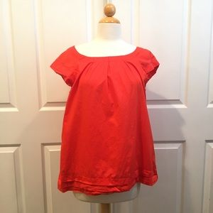 Merona Collection Orange Tiered Blouse